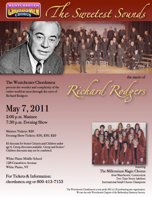 flyer for richard rogers concert chordsmen
