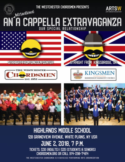 corrected International a cappella extravaganza 2018 wesco poster